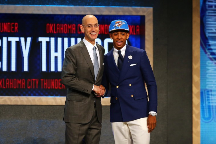 Adam Silver and Cameron Payne at 2015 NBA Draft