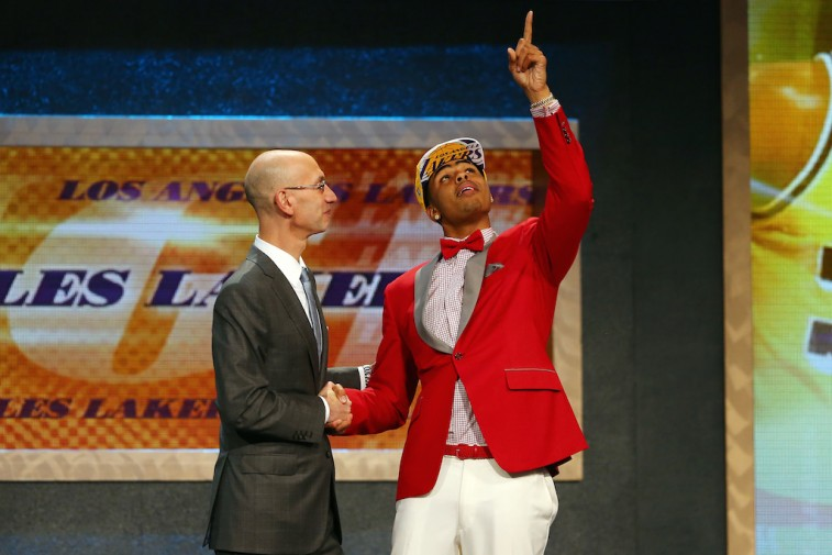 Adam Silver and D'Angelo Russell at 2015 NBA Draft
