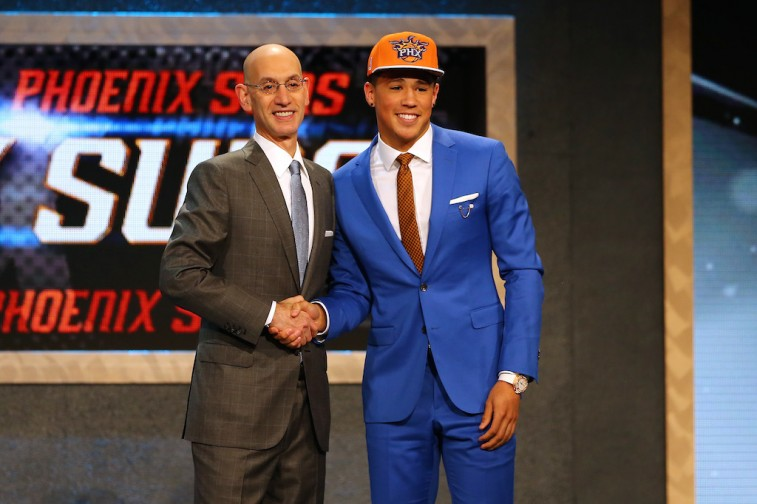 Adam Silver and Devin Booker at 2015 NBA Draft