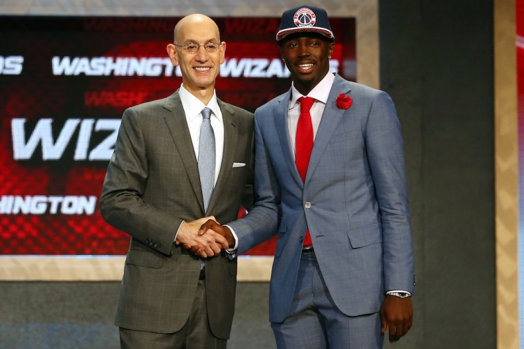 Adam Silver and Jerian Grant at 2015 NBA Draft