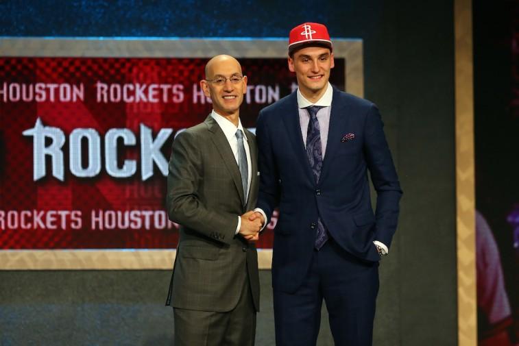 Adam Silver and Sam Dekker at 2015 NBA Draft