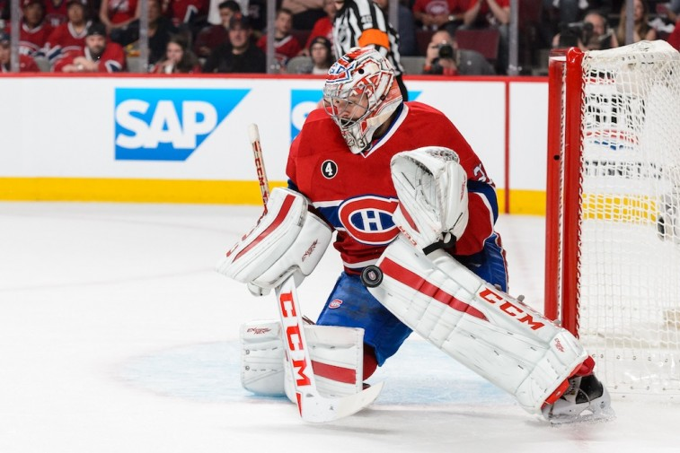Carey Price makes  big save