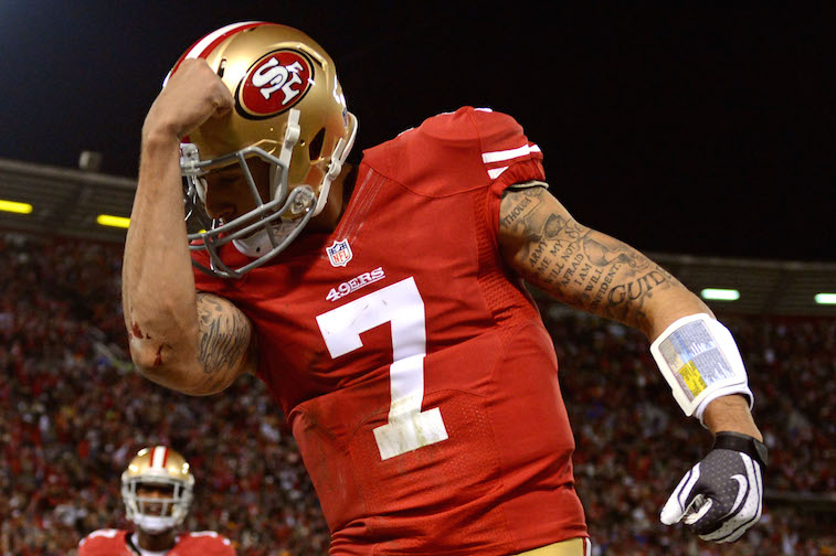 Colin Kaepernick in the Divisional Playoff Game