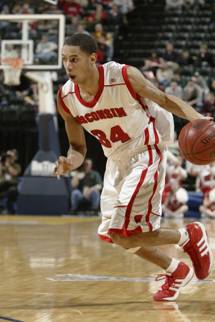 Devin Harris drives to the basket in the Big Ten Tournament