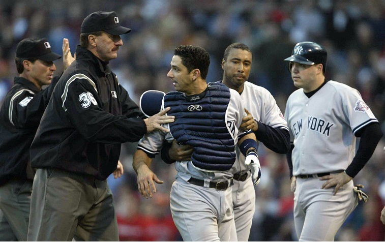 Posada refrained by umpires