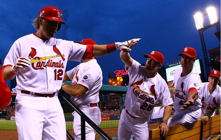 Mark Reynolds celebrates home run