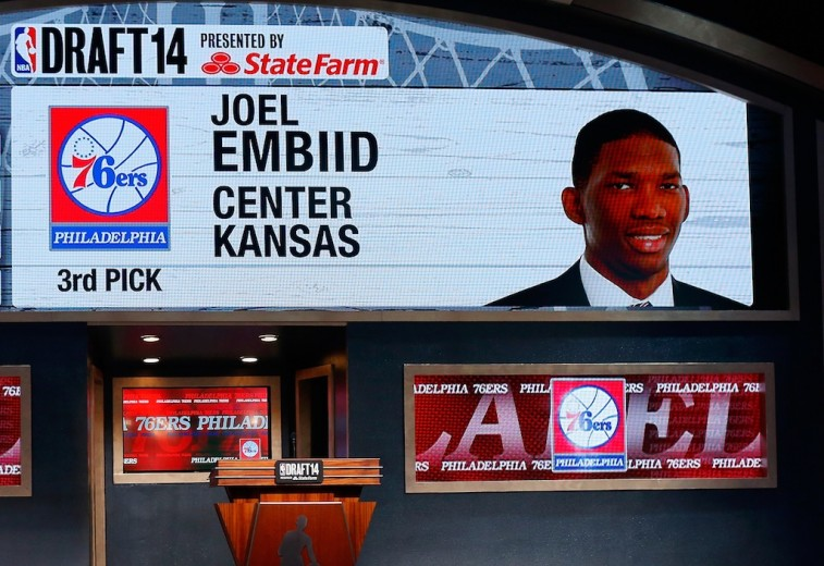Screen of Joel Embiid at 2014 NBA Draft