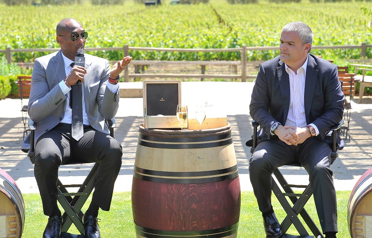 Kobe Bryant makes an appearance at a winery he represents.