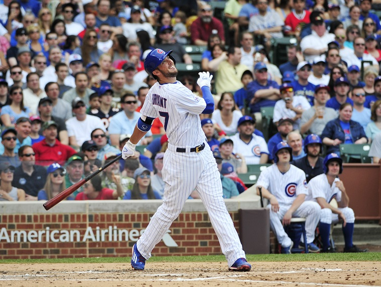 CHICAGO, IL - MAY 03:  on May 3, 2015 at Wrigley Field in Chicago, Illinois