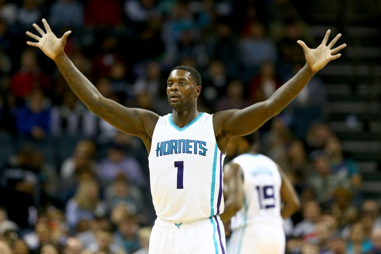 Lance Stephenson reacts to a play against the Portland Trail Blazers