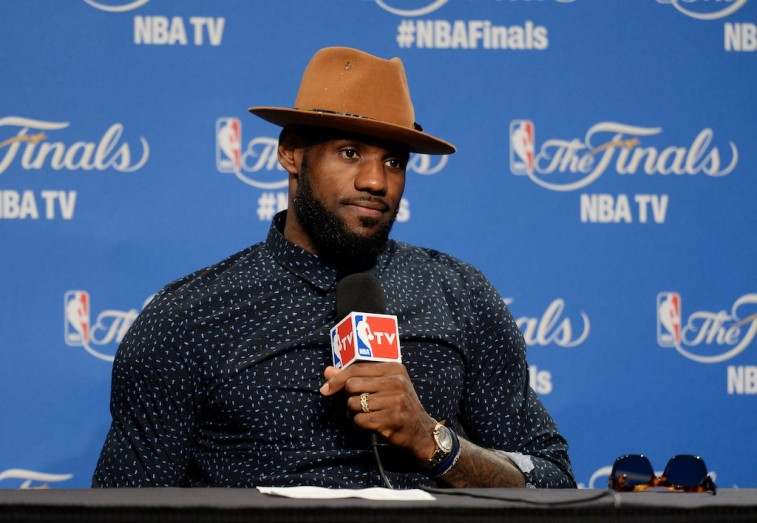 LeBron James addresses the media following Game 6