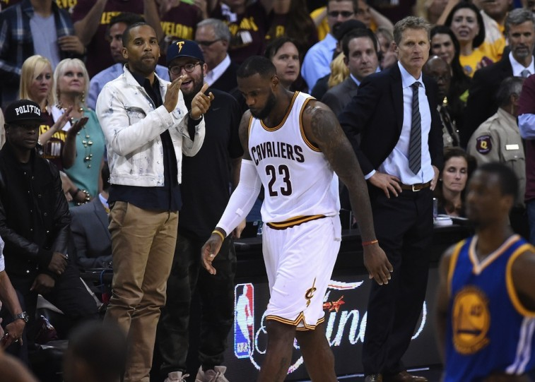LeBron James walks off the floor in the final seconds of Game 6