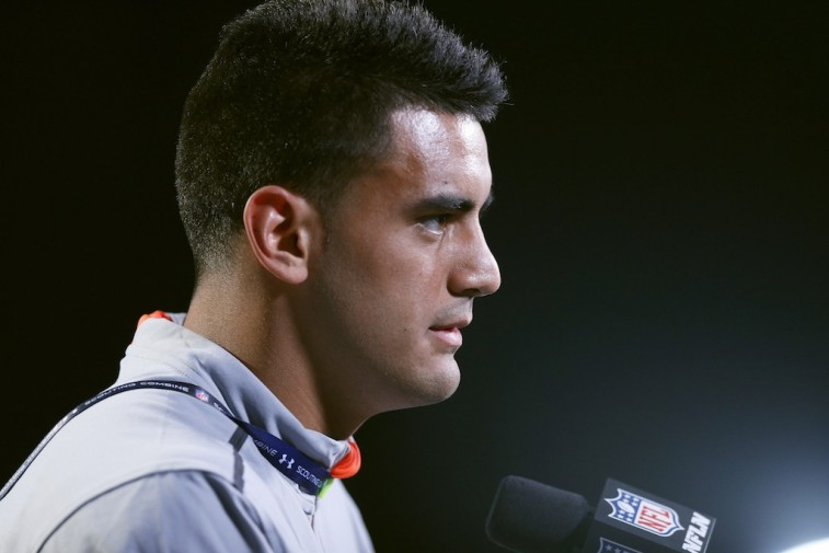 Marcus Mariota at the NFL combine
