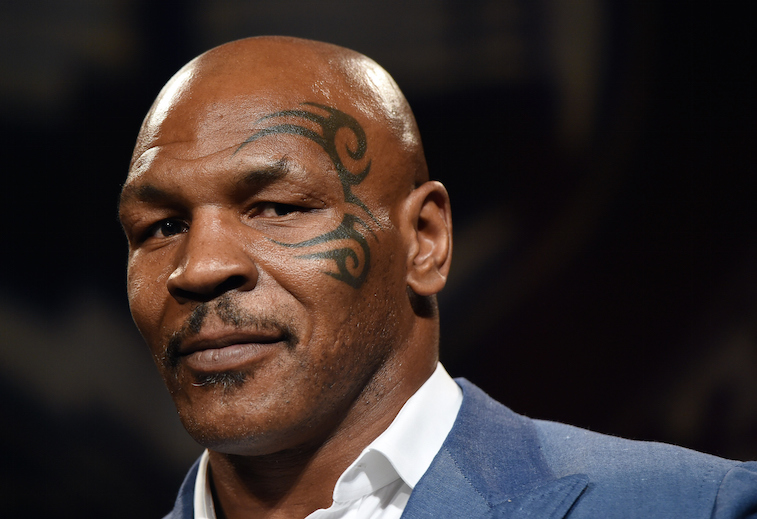 Mike Tyson looks serious