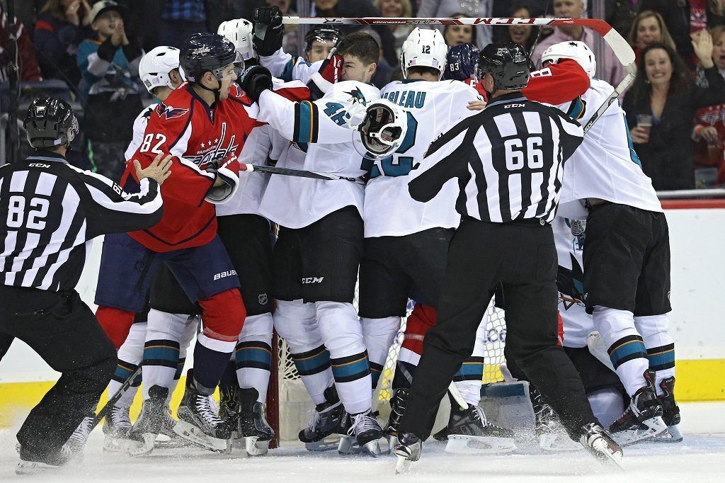 Division-leading San Jose Sharks and Washington Capitals weren't always the winners they are today.