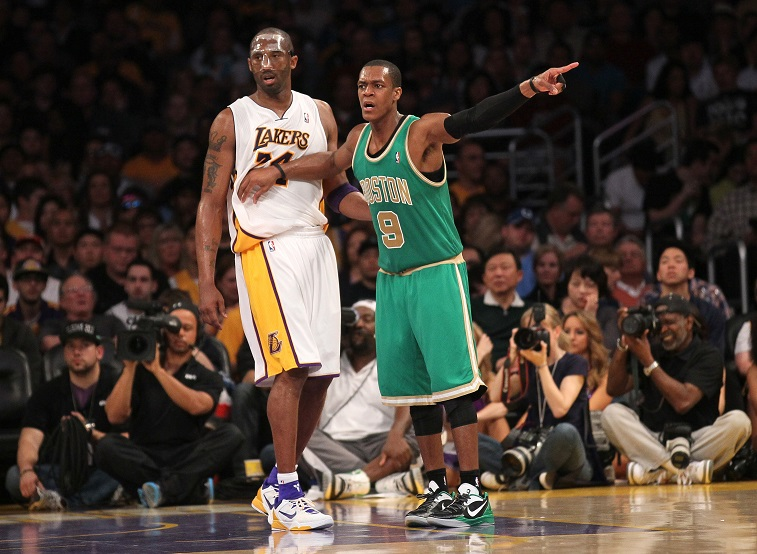 Rondo and Kobe mixing it up in happier times