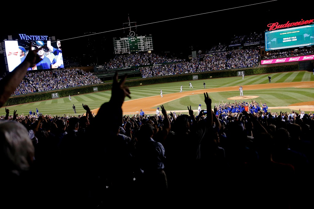 at Wrigley Field on September 28, 2015 in Chicago, Illinois.
