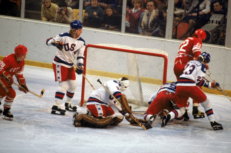 """The U.S. against the Soviet Union in the """"Miracle on Ice"""" Game"""