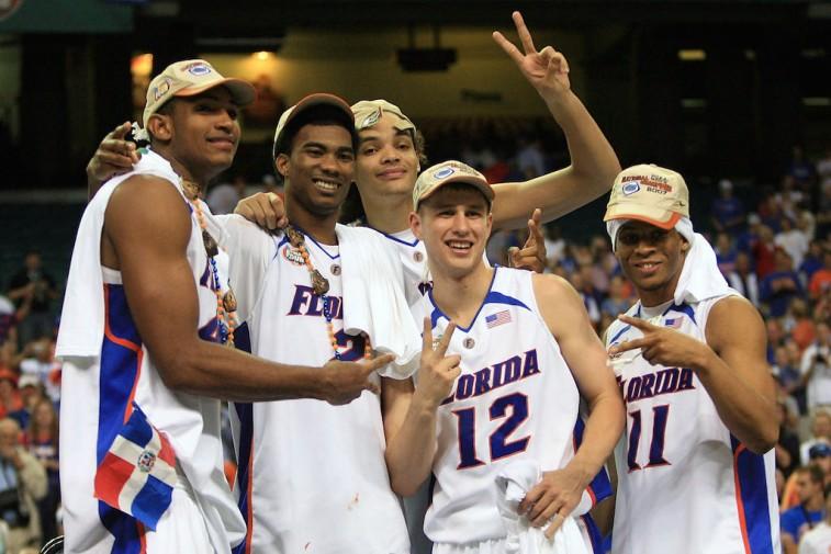 2007 Florida Gators celebrate second national championship