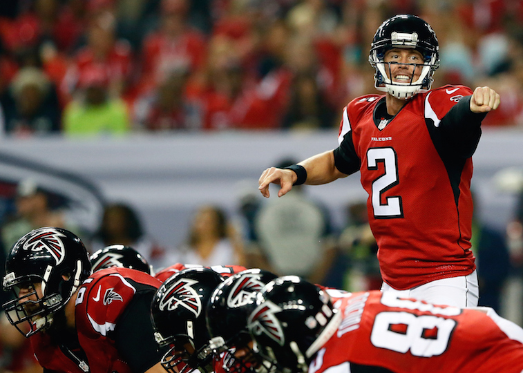 Kevin C. Cox/Getty ImagesQuarterback Matt Ryan leads the Atlanta Falcons during a game at the Georgia Dome in 2014.
