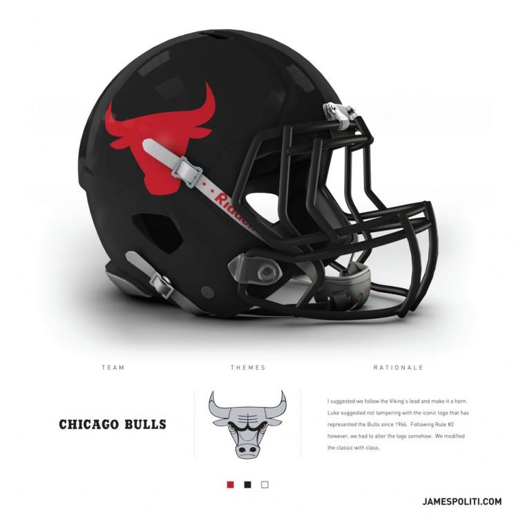 Chicago Bulls football helmet
