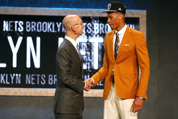 Chris McCullough and Adam Silver at the 2015 NBA Draft