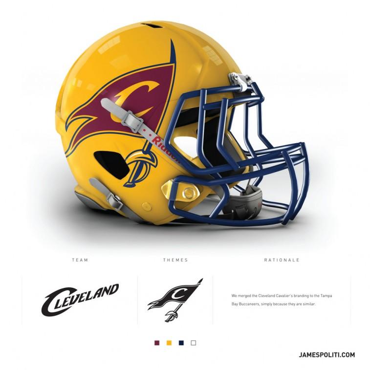 Cleveland Cavaliers football helmet