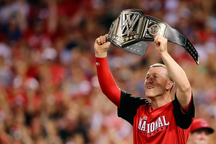 Todd Frazier celebrates victory at 2015 Home Run Derby