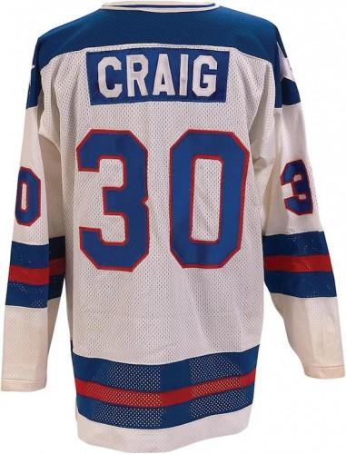 "Jim Craig ""Miracle on Ice"" jersey"