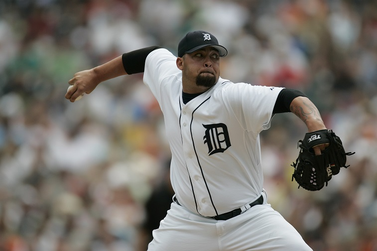 DETROIT - JULY 20:  Joel Zumaya #54 of the Detroit Tigers pitches against the Chicago White Sox on July 20, 2006 at Comerica Park in Detroit, Michigan. The Tigers defeated the White Sox 2-1.