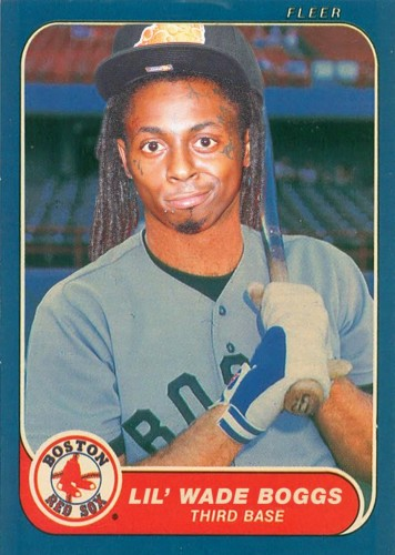 Lil Wayne mashed up with Wade Boggs