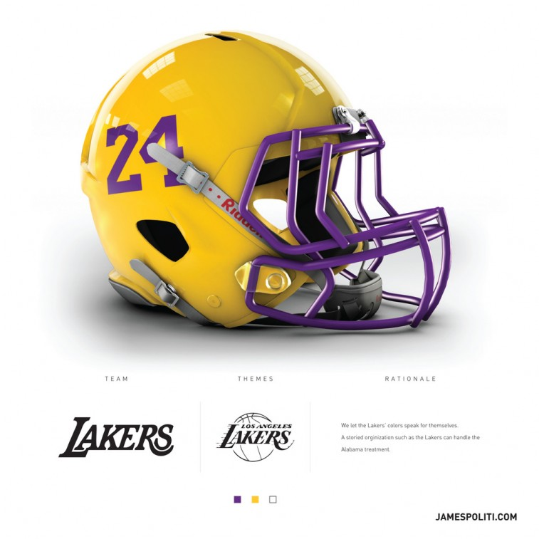 Los Angeles Lakers football helmet