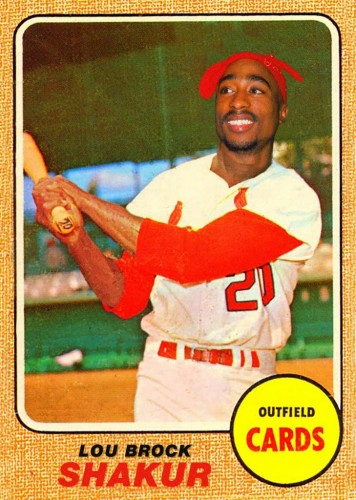 Tupac Shakur mashed up with Lou Brock