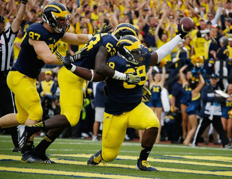 Michigan players celebrate