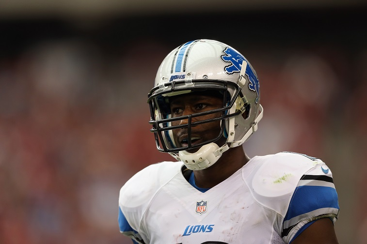 GLENDALE, AZ - SEPTEMBER 15:  Wide receiver Nate Burleson #13 of the Detroit Lions looks on against the Arizona Cardinals at University of Phoenix Stadium on September 15, 2013 in Glendale, Arizona.
