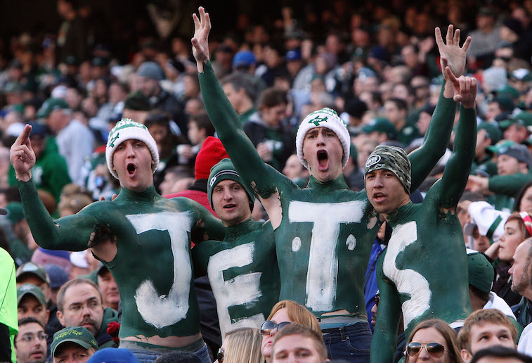 Fans of the New York Jets during a game in 2014.