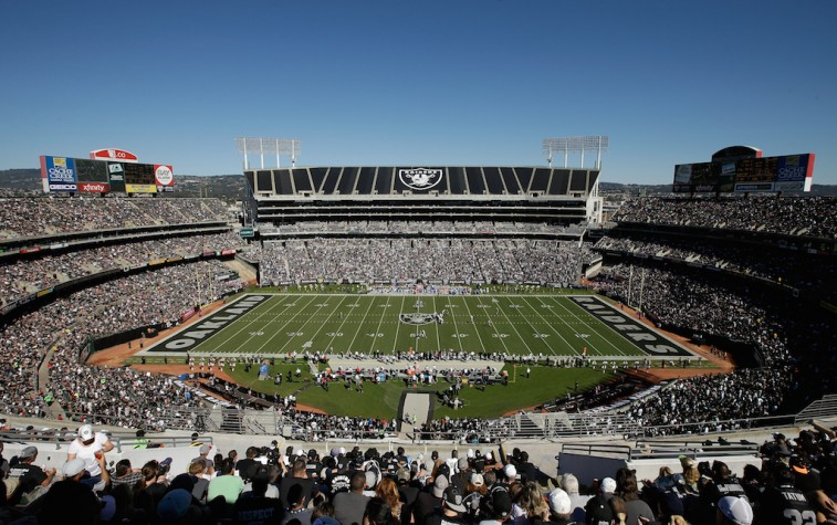 O.co Coliseum prior to a Raiders game