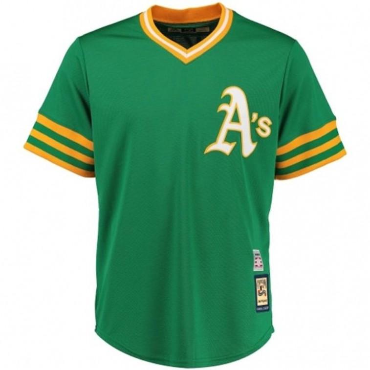 Oakland Athletics throwback jersey