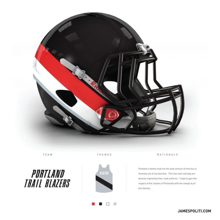 Portland Trail Blazers football helmet