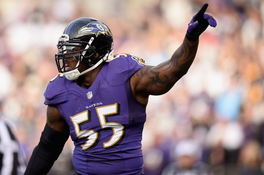Terrell Suggs during a game in 2014