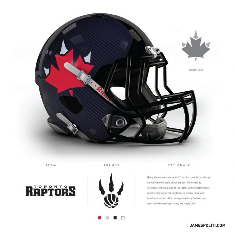 Toronto Raptors football helmet