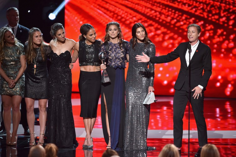 U.S. Women's National Soccer Team accepts the award for the Best Team at the 2015 ESPYs