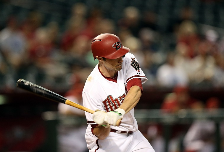 PHOENIX, AZ - AUGUST 10: during the Major League Baseball game between the Arizona Diamondbacks and the Philadelphia Phillies at Chase Field on August 10, 2015 in Phoenix, Arizona.