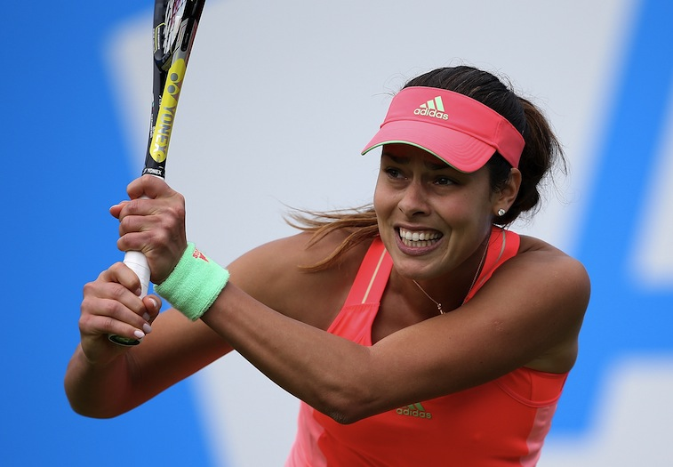 Ana Ivanovic in action during the Aegon Classic