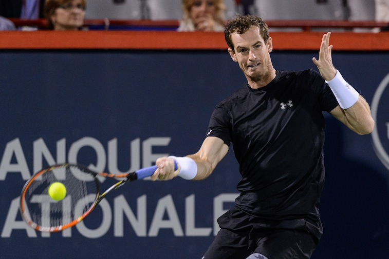 Andy Murray during the Rogers Cup