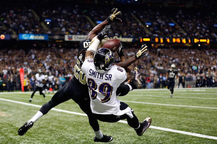 Brian Dixon gets beat for a touchdown
