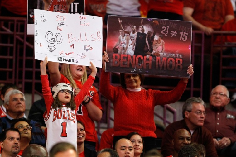 Chicago Bulls fans show their support