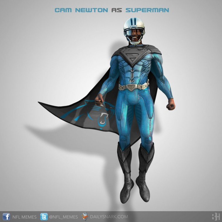 Cam Newton as Superman