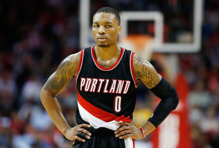 Damian Lillard against the Houston Rockets
