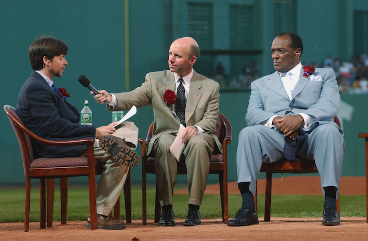 Earl Wilson (R) at a Ted Williams tribute